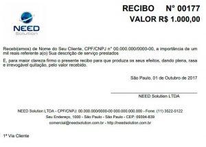 Recibo com Logo Online